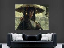 Le donne Spada Samurai Guerriero POSTER Fantasy KASA Cappello Wall Art Print