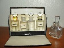 Vintage Chanel perfume bottles miniature box set