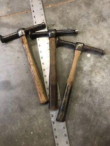 3x Vintage Proto, Plumb, Plomb, Plvmb Auto-body Hammers