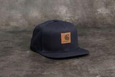 Carhartt Wip Logo Snapback Watch Hat Dark Navy Cap Streetwear Green Backley
