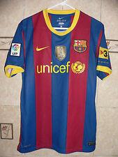 NIKE FC BARCELONA SOCCER TEAM PEDRO #17 JERSEY FIFA WORLD CHAMPIONS 2009 SEAL