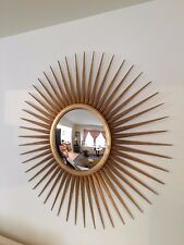 PARISH HADLEY ART DECO  GOLD GILTED SUNBURST MIRROR - BAKER FURNITURE
