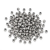 1000pcs 304 Stainless Steel Metal Beads Round Smooth Loose Spacers Tiny 3-5mm