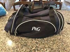 "P&G Duffel Bag Navy Black Medium Size - 22"" X 15"" X 8"""