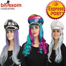 AC715 Festival Costume Hat Burning Man Sequins Glitter Party Gemstone Mardi Gras