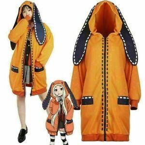 Kakegurui Compulsive Gambler Runa Yomozuki Outfit Coat Cosplay Costume Hoodie UK
