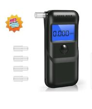 Breathalyzer New 2019 Portable Breath Alcohol Tester Led Screen w/ 5 Mouthpieces