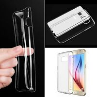 Ultra-thin Soft Gel TPU flexible clear fitted case cover skin For Samsung Galaxy