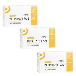 3 x blephaclean Eyelid Sterile Cleansing 20 Wipes PRESERVATIVE FREE Dry eye