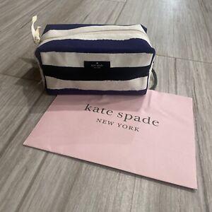 Kate Spade Medium Davie Stripe Cosmetic Bag Pouch
