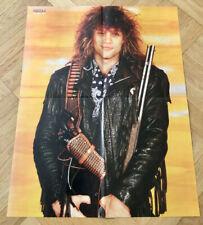 1986 Jon Bon Jovi Guns & Ammo Swedish Poster Magazine Okej 1980s Vintage Rare