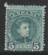 Spain - 1901/5, 5c Green/Greenish stamp - L/M - SG 393b
