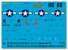 1/72 Decals für eine P51D-20-NA Lt.Col. C. Meyer 2572