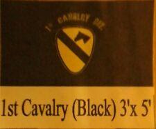 1ST CALVARY DIVISION(BLACK) 3X5