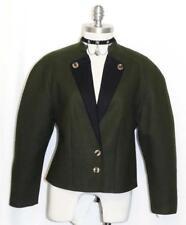 GREEN ~ WOOL German Women Winter Short Riding Dirndl Dress Suit JACKET Coat 10 M