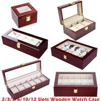 Holz Uhrenbox Für 2/3/5/6/10/12 Uhren Uhrenkoffer Uhrenschatulle Uhrentruhe