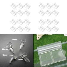 6PCS Plastic Clips Glass Cover Support Holder Aquarium Fish Tank 6/8/10/12mm New