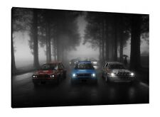 Lancia Delta HF Integrale - 30x20 Inch Canvas Art Framed Picture Print