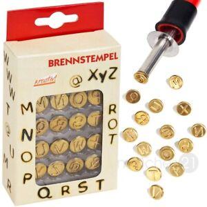 Brandmalerei Brennstempel Buchstaben Set M - Z & Sonderzeichen 16 Stk. Aufsätze