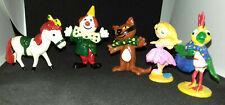 """figurine vintage ORTF JIM """"kiri le clown """" 1966 comprends 5 personnages"""