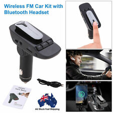 Wireless Bluetooth Headset FM Transmitter MP3 Wireless Adapter Car Kit Supp AU