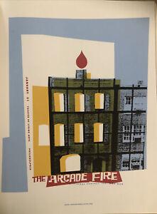 "Arcade Fire by Largemammal Print, 2005, Gig Poster Indi Rock Art 14x10"" 127"