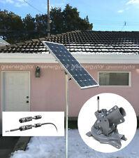 100W Solar Panel+Adjustable Universal Pole Mount Optimize Orientation & Angle