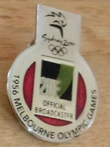 2000 2UE Sydney Olympic Pin Press Media Official Broadcaster 1956 Melbourne
