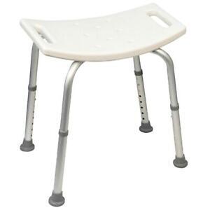 Aluminium Portable Shower Stool Bathroom Seat Chair Bath Light Disability Aid