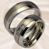 Trauringe für Hochzeit und Freundschaft aus Edelstahl und Titan mit Wunschgravur