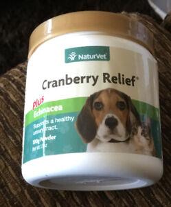 NaturVet Cranberry Relief + Echinacea Powder Large Size 100g ~ Exp 1/23 DOG/cats