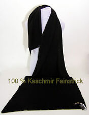 Stola ° Schal ° 100% Kaschmir / Cashmere ° Cooper London ° 200x50cm ° Schwarz