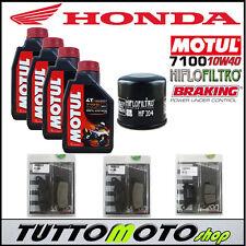 KIT TAGLIANDO HONDA HORNET 600 2011 2012 OLIO MOTUL FILTRO PASTIGLIE BRAKING