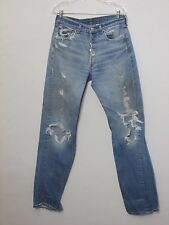 501 Levi Jeans, Men's Size 31/33 Measured,Tag Size 33, Made in Mexico, Inv#F3337
