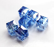 10pcs 10mm Faceted Square Cube Cut Glass Crystal Loose Spacer Beads