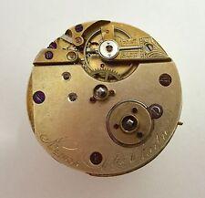 Antique High Grade Etin Charpier Pocket Watch Movement~Running