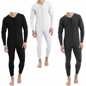 MENS THERMAL ALL IN ONE SUIT UNDERWEAR SET BASELAYER ZIP BODY SKI CAMOUFLAGE