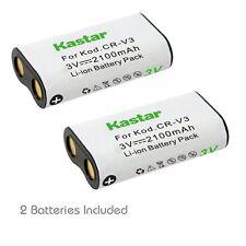 2x Kastar Battery for CR-V3 Kodak EasyShare CX6445 CX7220 CX7300 CX7310 CX7330