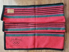 Kanata Blanket Co Wool Blend Throw Blanket Stripes 59x39 John Hancock Olympic