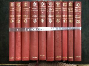 Charles Dickens Lot of 10 Leather Bound books