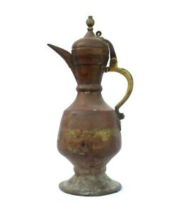 1750s Islamic Ottoman Antique Large & Heavy Copper Coffee / Tea Pot Pitcher Jug