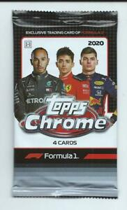 2020 Topps Chrome Formula 1 F1  Racing 1 Pack Hobby 4 Cards per Pack