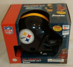 New PITTSBURGH STEELERS Jersey Uniform Helmet Set Franklin Football Costume NFL