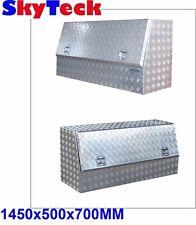 ALUMINIUM TOOL BOX  TRUCK CARS 2mm CHECKER PLATE 1450*500*700 NEW T1383
