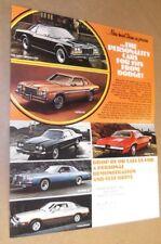 ★RARE-1978 DODGE CHALLENGER ASPEN MAGNUM ORIGINAL MINI DEALER SALES BROCHURE-78