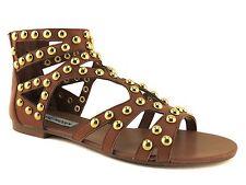 Steve Madden Women's Culver-S Embellished Gladiator Sandals Cognac Size 6.5 B, M