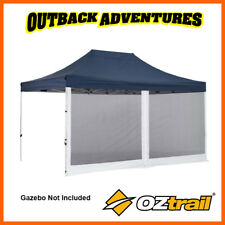 OZtrail 4.5m Mega Gazebo Mesh Side Wall With Centre Zip