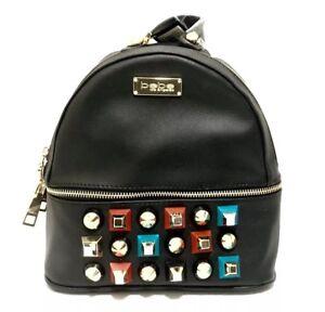 BEBE Sadie Studded Mini Backpack Purse Black NWT Faux Leather Punk $89