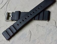 BARGAIN PRICE Slim soft rubber 18mm vintage dive watch band 1960s notched ends