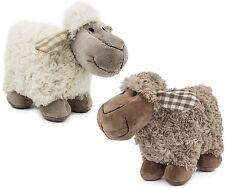 "BRUBAKER Set of 2 Plush Sheep Lamb Soft Toy Animal 8.3"" Height Brown + White"